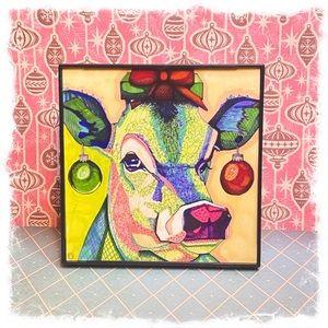 Christmas Cow Decor